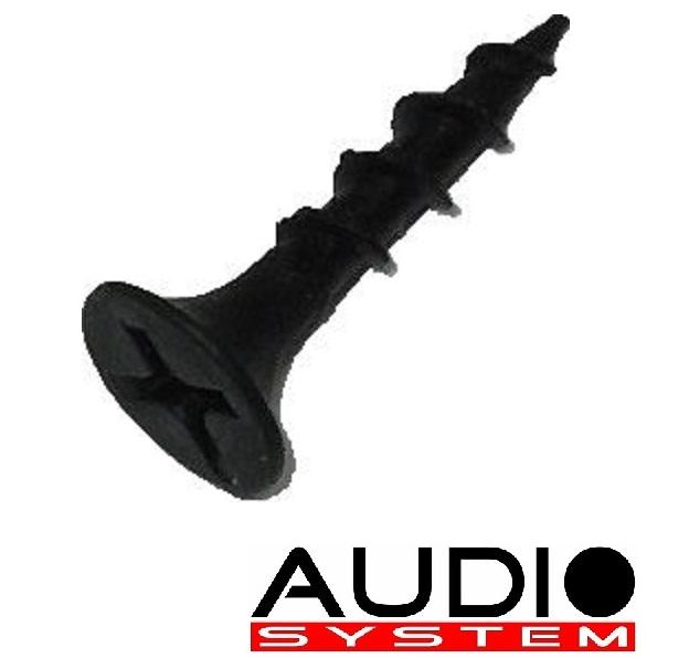 AUDIO SYSTEM SCREW 3,5 x 20 Senkkopf-Schrauben in schwarz-eloxiert 100 Stück