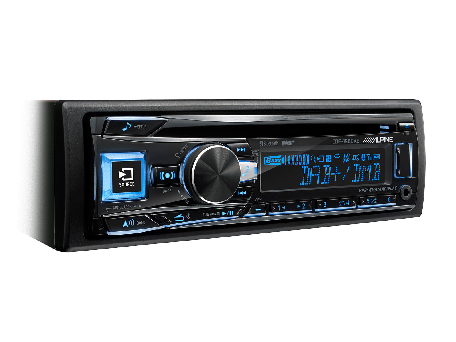 Alpine CDE-196DAB CD/DAB+ RECEIVER MIT BLUETOOTH Autoradio DAB+/UKW/MW/LW-RDS-Tuner
