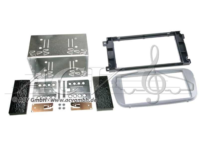 Double-DIN installation kit for Ford from year 2007 -> Color: silver