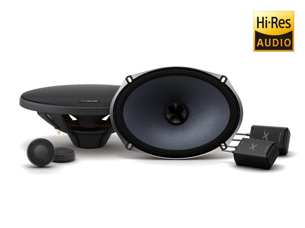 Alpine X-S69C 16 cm x 24 cm (6 x 9-Zoll) 2-WEGE-KOMPONENTEN-LAUTSPRECHER 360 Watt Speaker