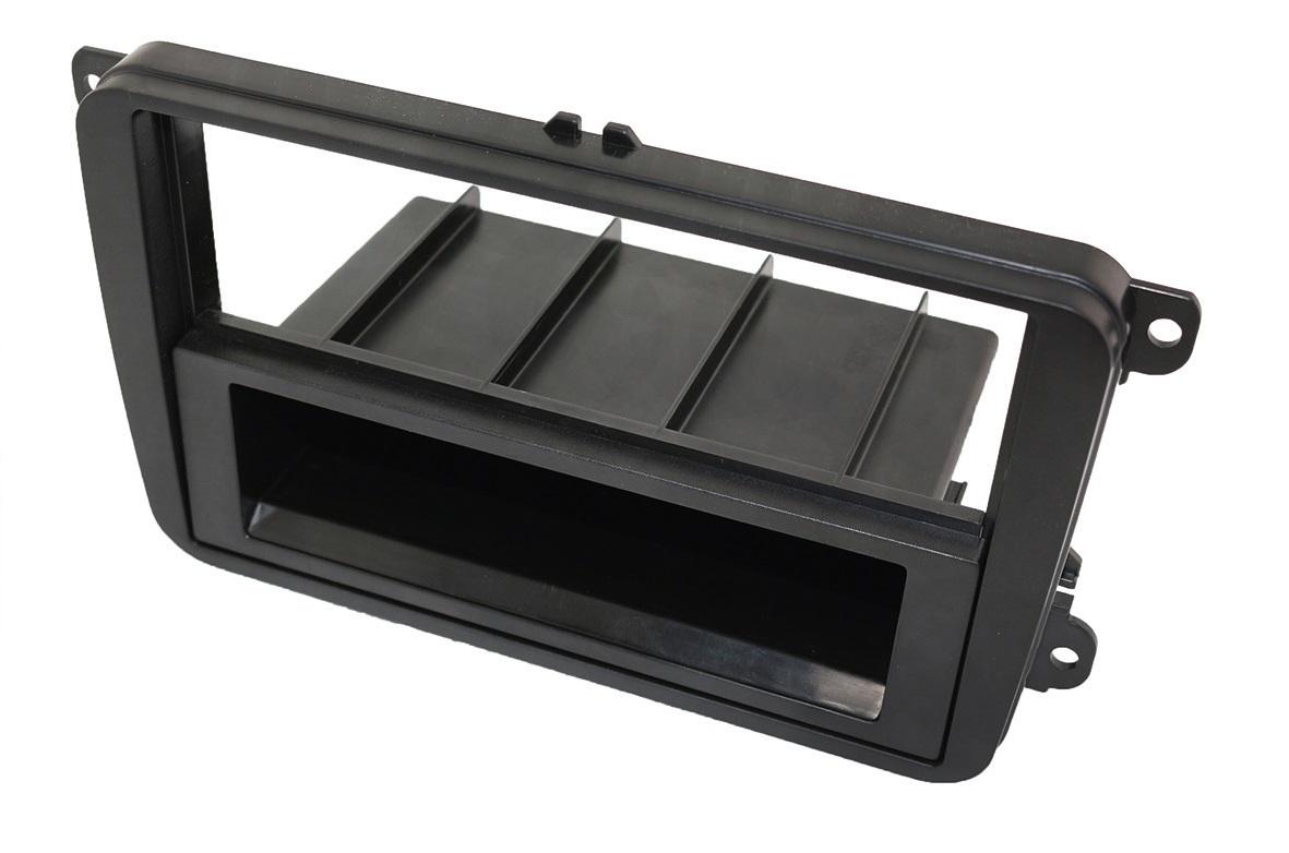 1-DIN Einbaurahmen, Radioblende für Skoda und VW Fahrzeuge (Golf 5 und 6)