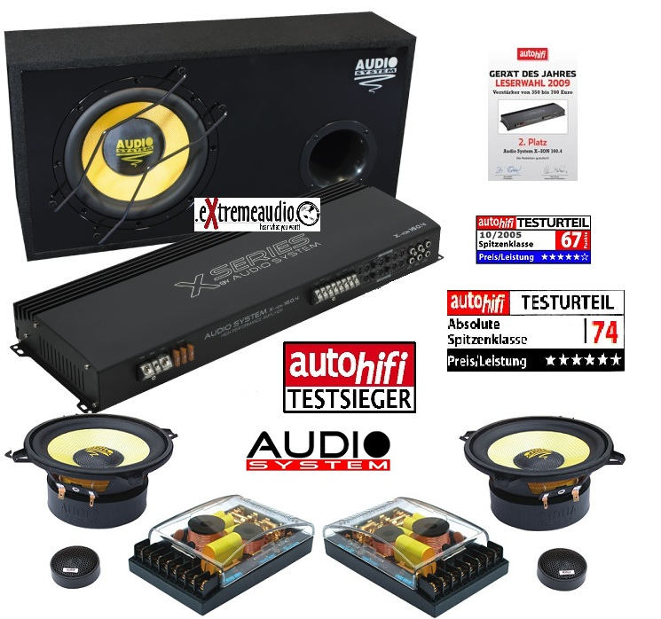 Audio System X--ION SERIES Set X-ION 12 + XION 160.4 + X-ION 130