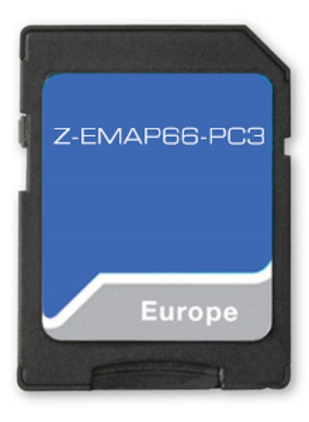 Zenec Z-EMAP66-PC3 - Z-x56/66/65 Prime 16 GB SD-Karte EU-Karte für PKW Navigationssoftware für Zenec Z-N956, Z-N965 und Z- N966