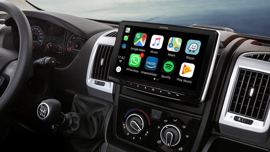 Alpine iLX-F903DU Autoradio für Fiat Ducato 3, Citroën Jumper 2 und Peugeot Boxer mit 9-Zoll-Touchscreen 1-DIN-Einbaugehäuse, DAB+, Apple CarPlay und Android Auto Unterstützung