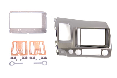 RTA 002.362-0 Double DIN mounting frame ABS gray-black