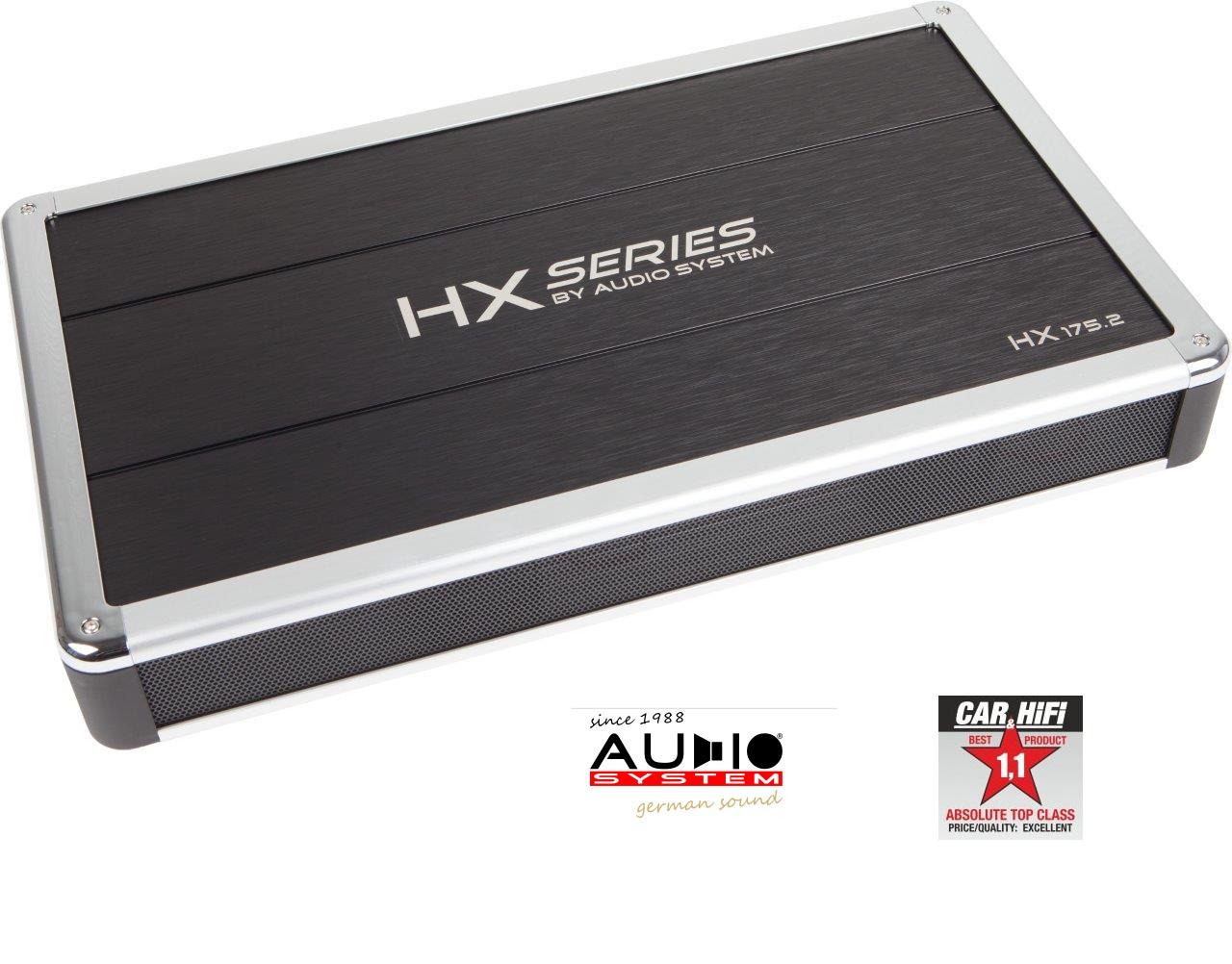 Audio System HX 175.2 2-Kanal HIGH END Hochleistungs Verstärker Burr-Brown Vorverstärker, HX-SERIES HX175.2