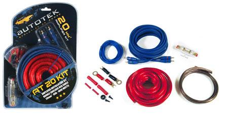 Autotek Autotek AT20 Kit câble AT20KIT 20mm KIT