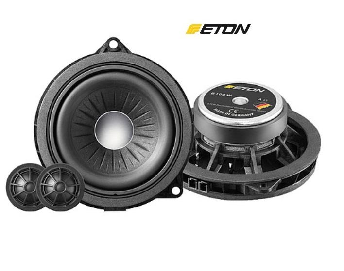 ETON B100W 10 cm 2-Wege Compo Lautsprecher Set für BMW F30 / F31 / F34 / F80 / F36 / G30 / G31 / F06 / G32 / G11 / G12 / F48 / F49 / F39 / F25 / G01 / F26 / G02 / F23 /  F45 / F46 / F32 / F33 / F82 / F83