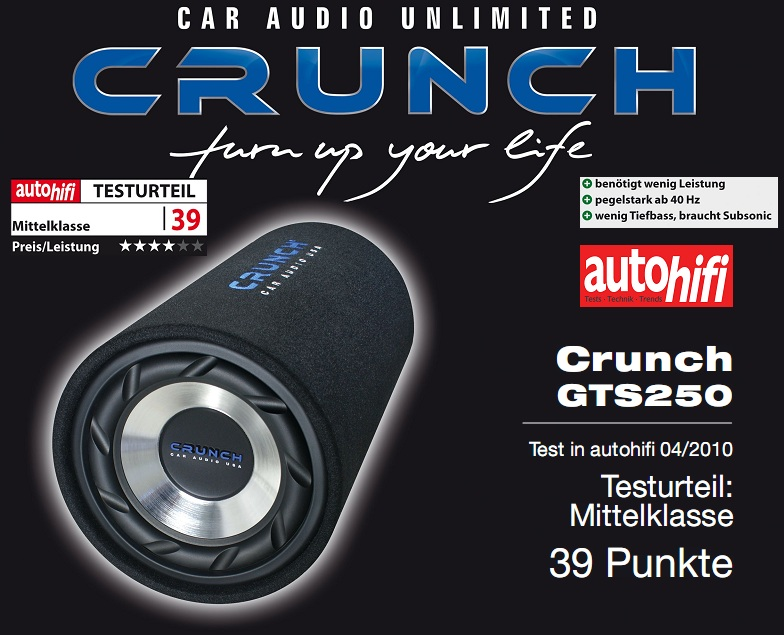 Crunch GTS-250 Tube Subwoofer Crunch GTS250