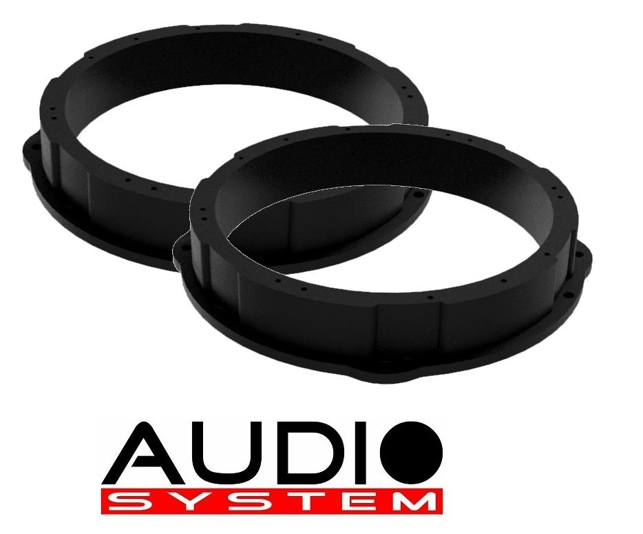 Audio System LSR200 VAG EVO Lautsprecher-Aufbauringe für VW T5, T6, 20cm / 200mm