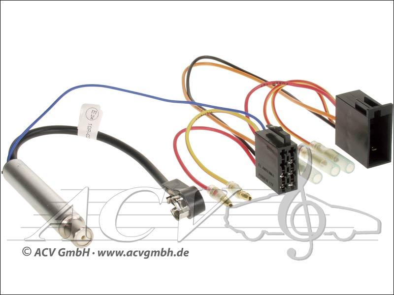 ACV 1321-45 Audi / Seat / Skoda / VW ISO mit Phantomeinspeisung