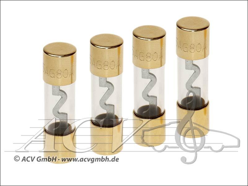 ACV 30.3901-40 AGU fuses 40 amp 4 pieces