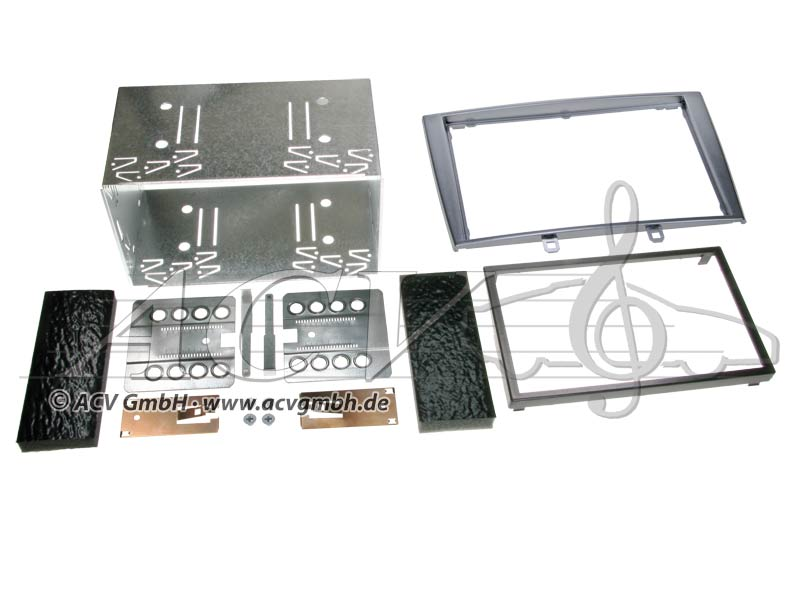 Double-DIN installation kit for Peugeot 308 Rubber Touch