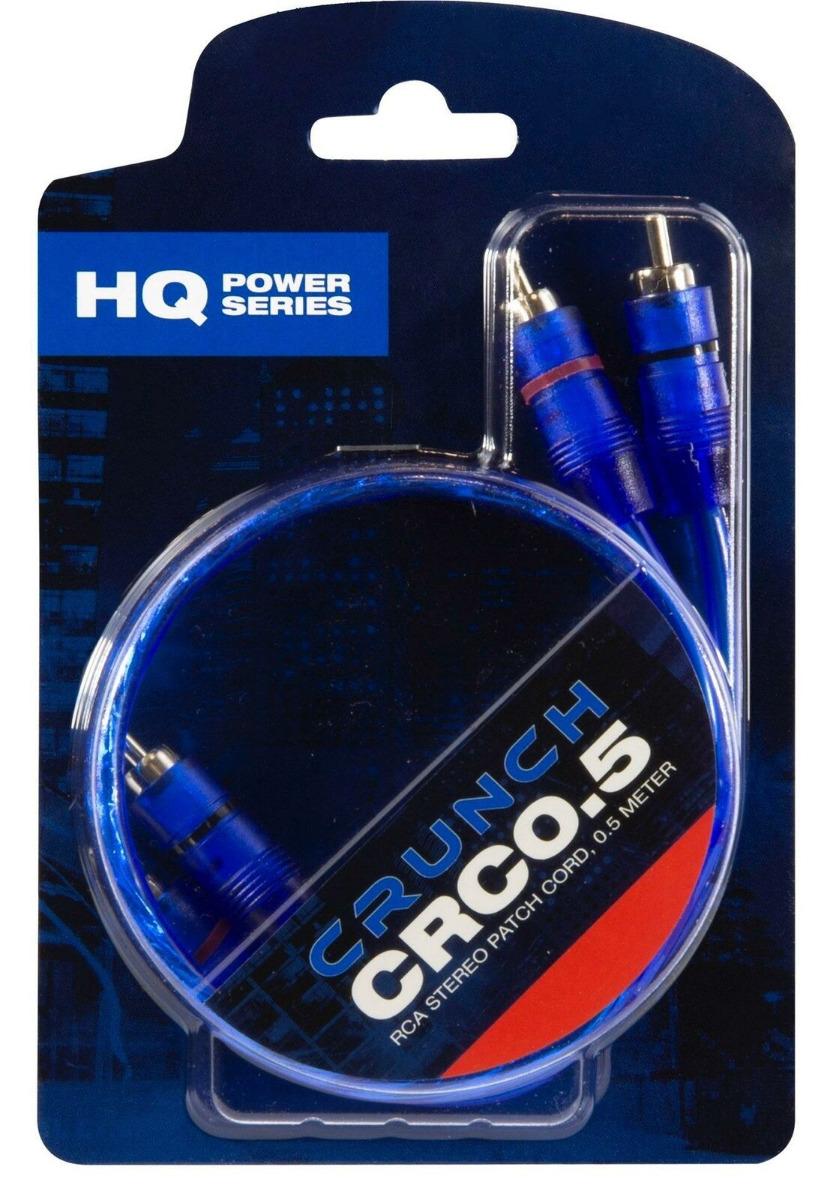 CRUNCH CRC0.5 Cinchkabel 0,5m Hochwertiges Cinch-Stereokabel verdrillt