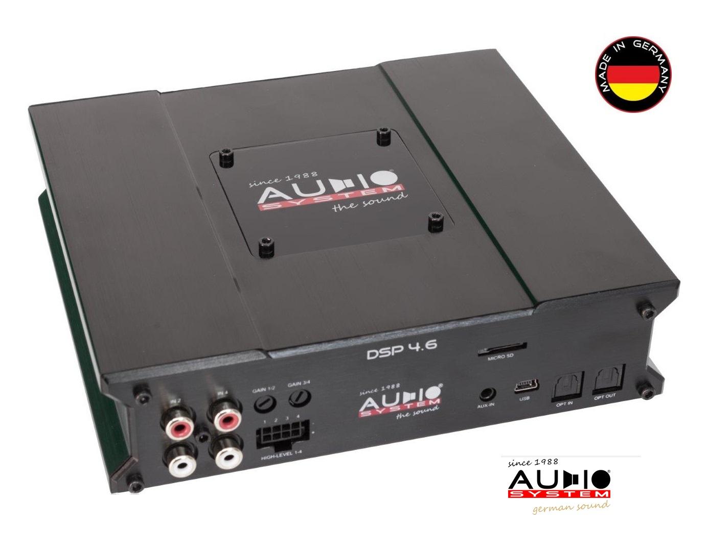 AUDIO SYSTEM DSP 4.6 6-Kanal Hochleistungs-DSP mit Freescale Multi-Core Chip