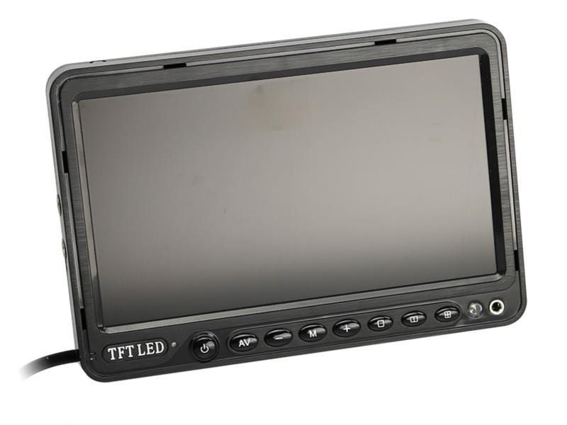"ACV 771000-6202 7"" Monitor universal 16:9 (1 RFK + 2 AV Eingänge)"