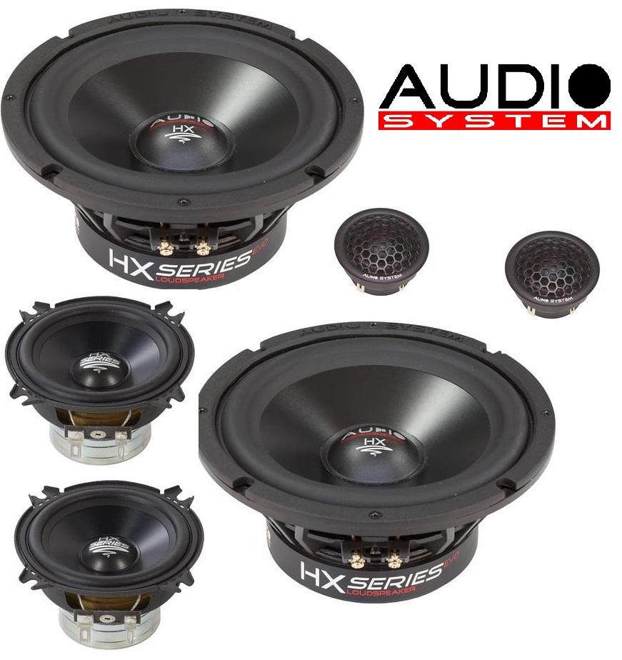 Audio System HX 165 DUST 3-WAY EVO 2 HX SERIES Vollaktiv 16,5cm 3-Wege Aktivsystem