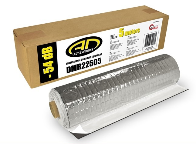 ADA DMR 22505 Dämmmaterial Dämmung Alubutyl 2,2mm Selbstklebend Alu ADADMR 2,5m²  (5 x 0,5meter) Rolle