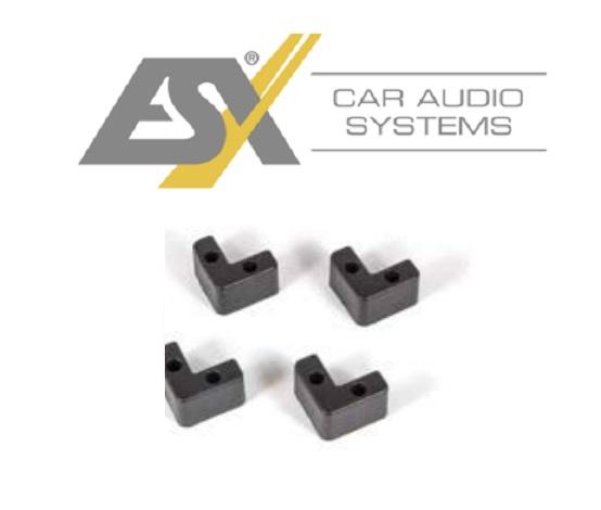 ESX DFB-490 Gummifüße Universal Füße zum anschrauben unter Boxen Subwoofer Kisten