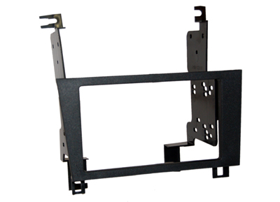 RTA 002.216-0 Double DIN mounting frame black ABS