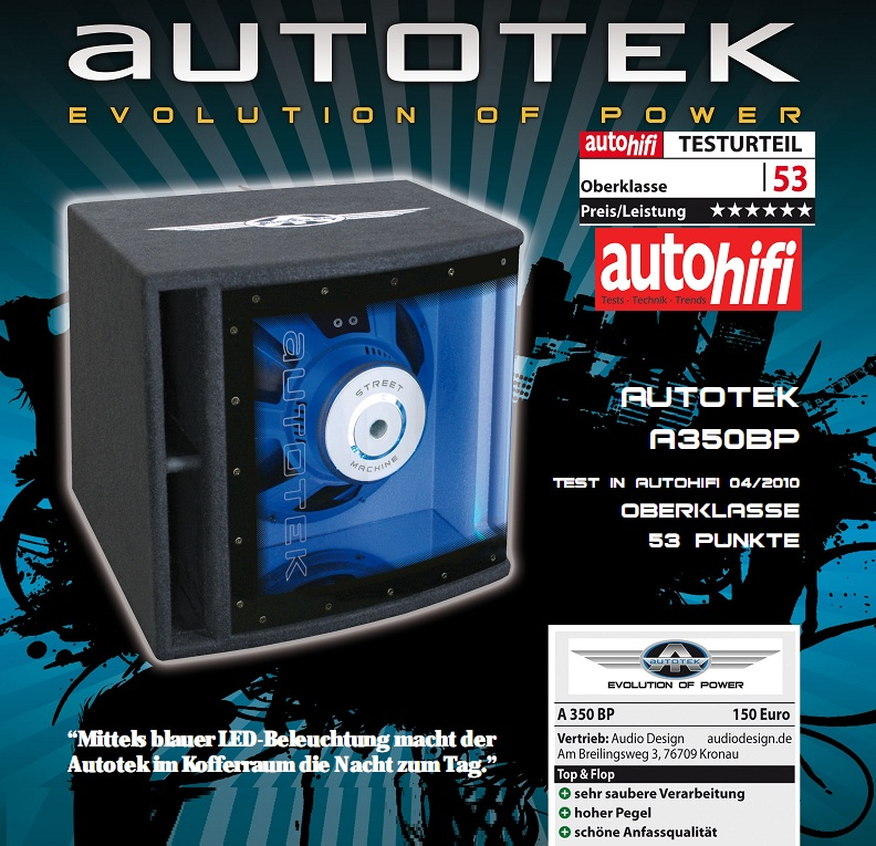 Autotek Autotek A350BP Single Bandpass 700W A-350bp