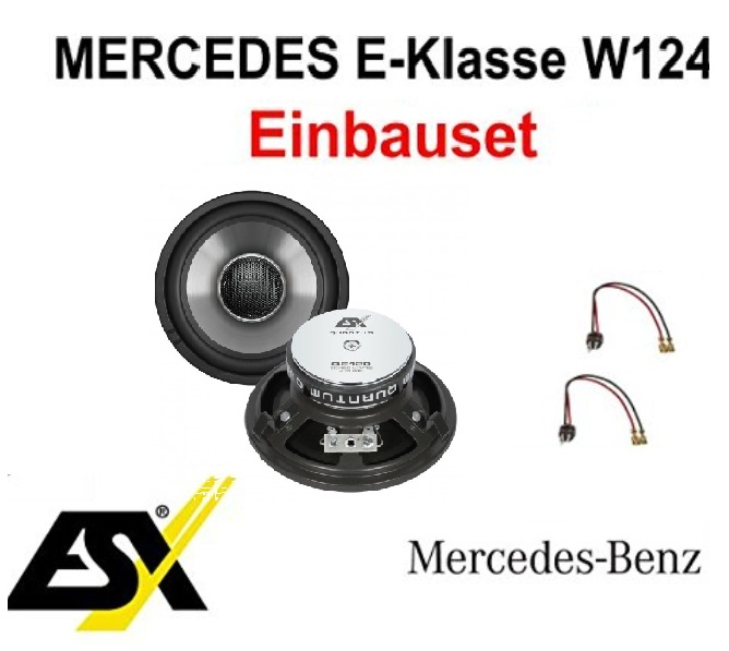 Lautsprecher Set ESX QE120 für Mercedes E-Klasse W124 1984-1997 vorne  1Paar