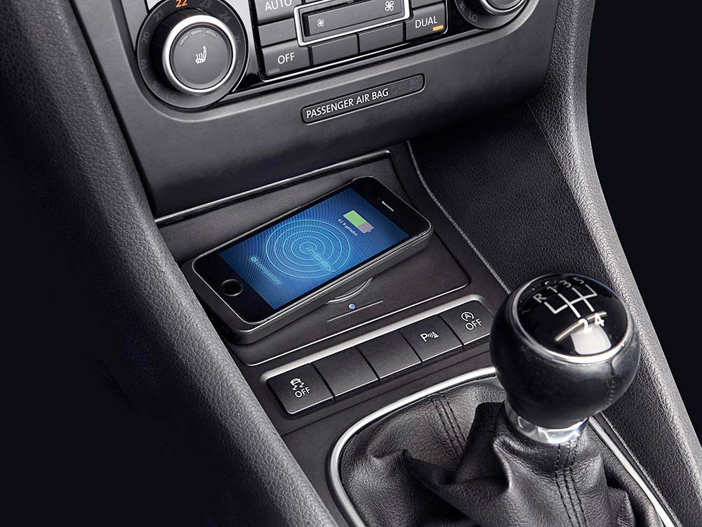 Alpine KCE-G6Qi Wireless-Ladestation für Volkswagen Golf VI kabellose Ladestation für Mobiltelelefone