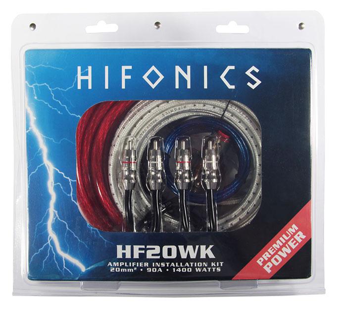 HIFONICS HF20WK Premium Kabelkit 20 mm² Premium Verstärker-Anschluss-Set