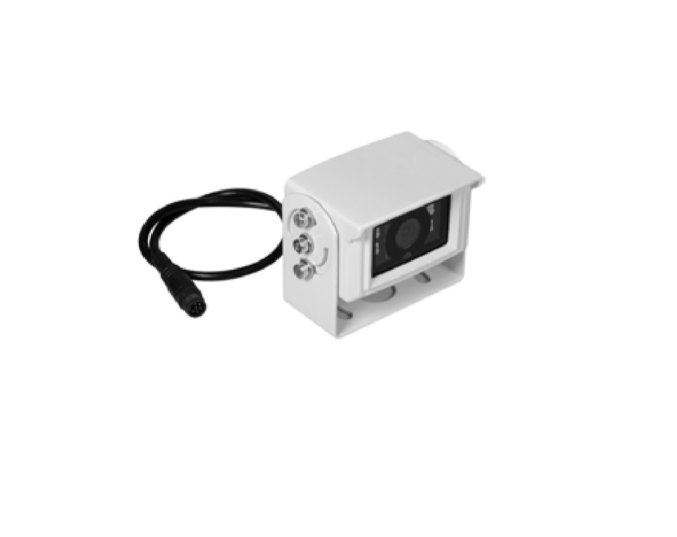 ESX VNA-RCAM-CS187 Rückfahrkamera weiß Universal Aufbau-Farbkamera mit Bügel