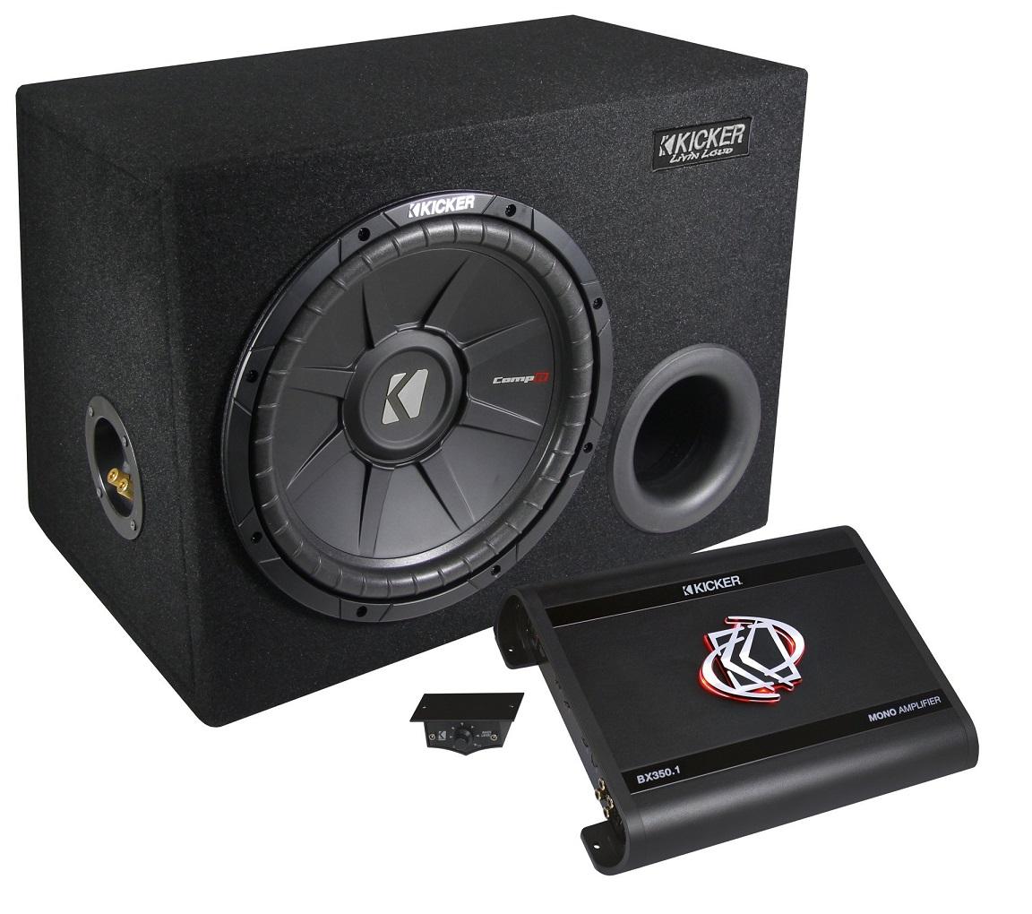 KICKER Kick Pack KPX350.1 Basspaket 700 Watt Mono Verstärker BX350.1 + Subwoofer Comp12V-S