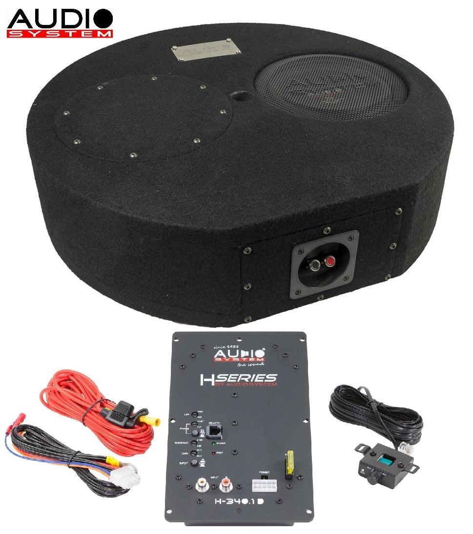 Audio System SUBFRAME R08 FLAT ACTIVE EVO Bassreflexgehäuse Reserverad R 08 FLAT EVO + H-340.1 D R-SERIES EVO SUBFRAME
