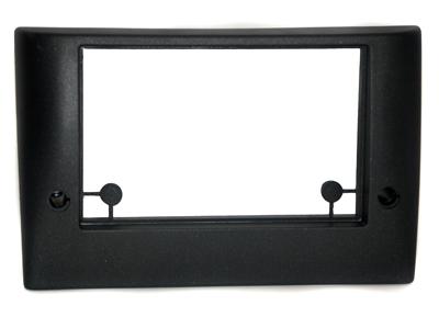 RTA 002.304-0 Double DIN Cadre de montage en ABS noir