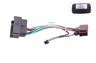RTA 013.341-0 Steering wheel with steering wheel remote control adapters for vehicles without CAN bus controller