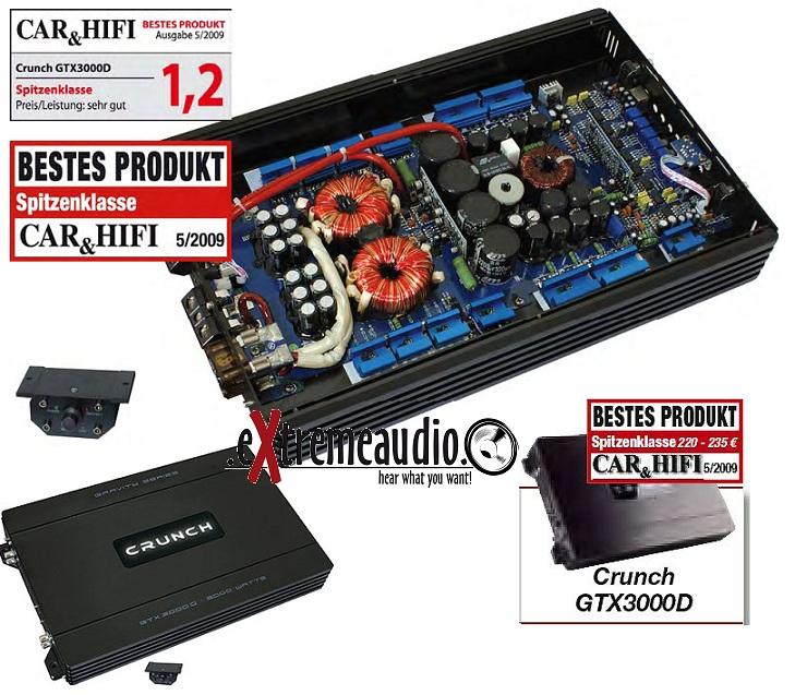 Crunch GTX3000D Ausstellungsstück Mono AMP GTX 3000 D