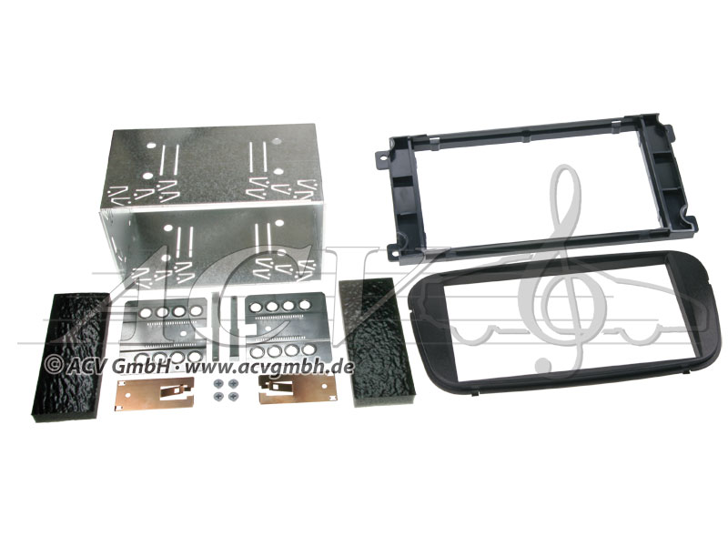 Double-DIN installation kit Ford Rubber Touch 2007 -> Color: Black