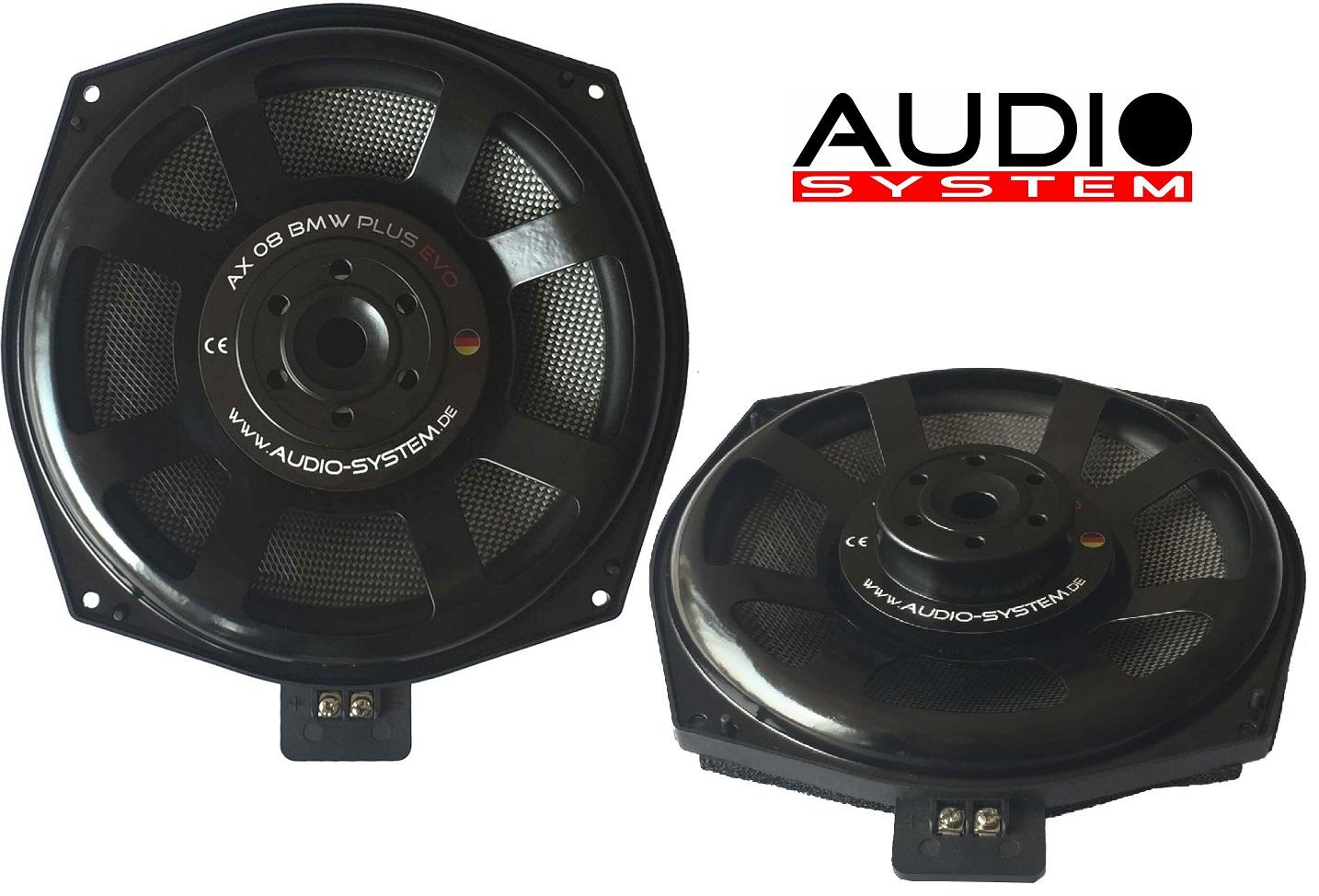 Audio System AX 08 BMW PLUS EVO Subwoofer 20cm BMW E und F BMW Modelle 1 Paar
