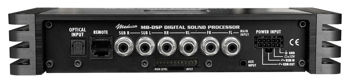 Hifonics Medusa M8-DSP Digitaler DSP 8-Kanal-Prozessor inkl. Fernbedienung RC-TRX