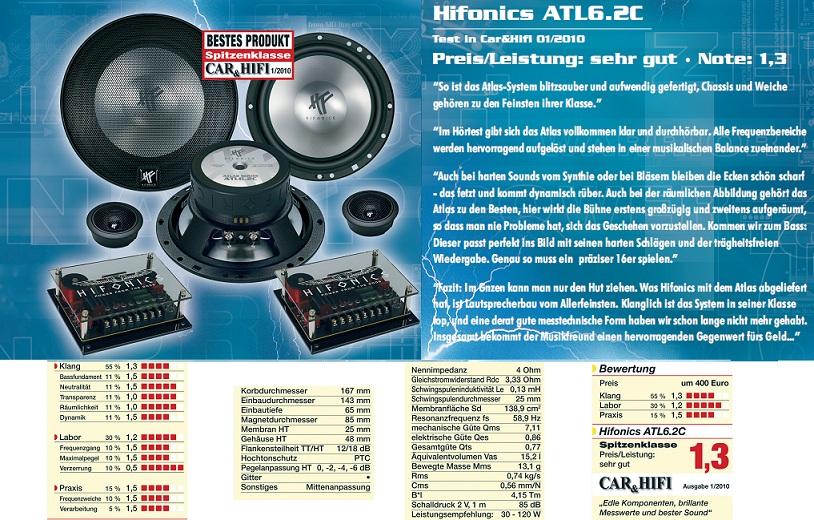 ATL-6.2C Hifonics ATLAS 2-way système ATL6.2 C