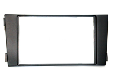 RTA 002.116-0 Double DIN mounting frame black ABS