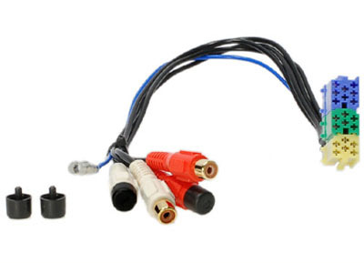 RTA 003.020-0 Adapter, Low Level, 6-poliger Stecker (gelb) auf 4 Chinch-Buchsen