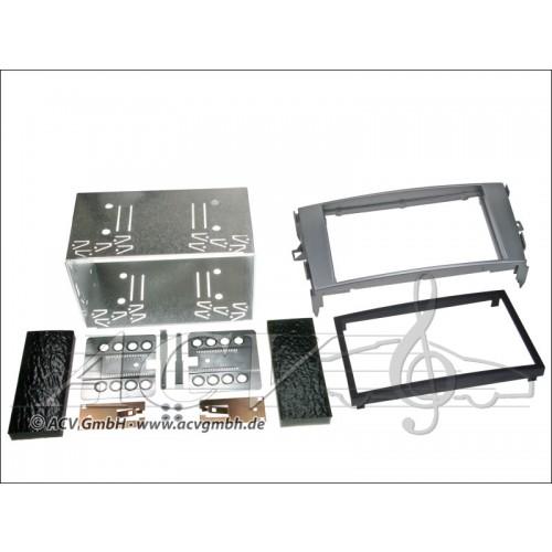 ACV 391300-13-1  Doppel-DIN Einbaukit Rubber Touch Toyota Auris 2007> Anthrazit Grau mit Rubbertouch oberfläche