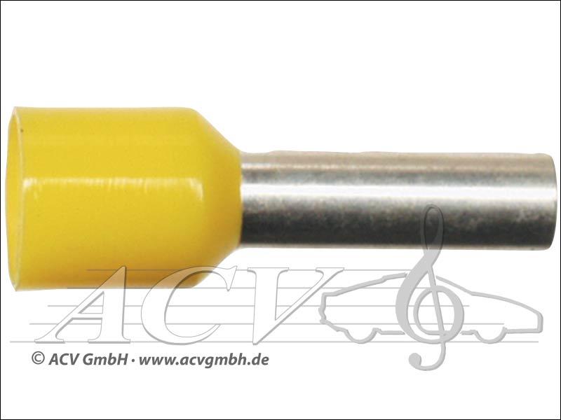 ACV 340 600 ferrules 6.00mm ² 100 yellow