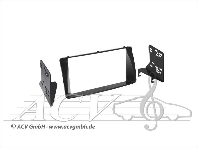 Doppel-DIN Einbaukit Rubber-Touch Toyota Corolla/Corolla/Verso