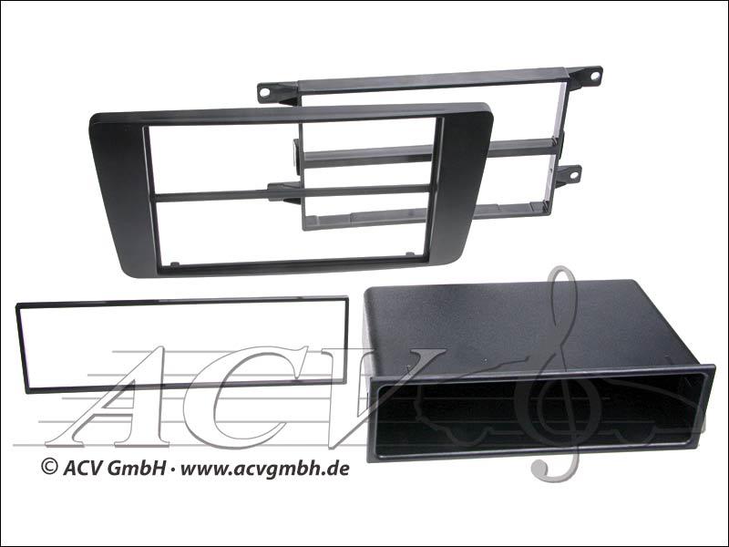 ACV 281340-03 Doppel ISO Radioblende Skoda Octavia II Doppel DIN (schwarz)