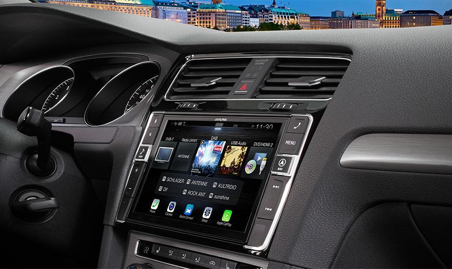 Alpine i902D-G7 9-Zoll Premium-Mobile-Media-System für Volkswagen Golf 7 mit Apple CarPlay und Android Auto Unterstützung