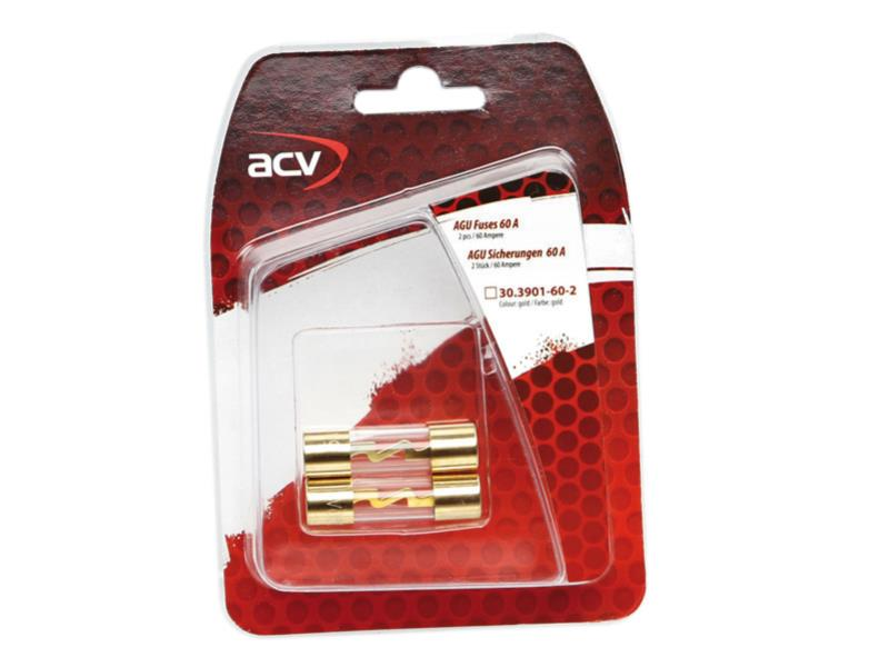 ACV 30.3901-60-2 AGU fuses 60 Ampere ( gold ) 2 pieces