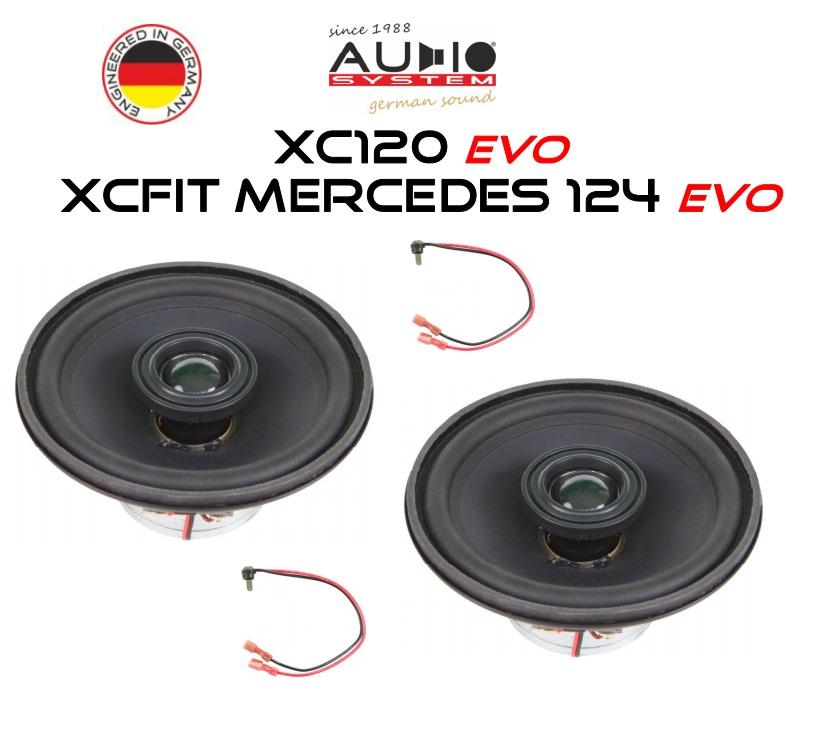 AUDIO SYSTEM XCFIT MERCEDES W124 EVO 85W PERFECT FIT COAXIAL SYSTEM Lautsprecher kompatibel mit MERCEDES W124 1984->