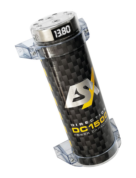 ESX DC1500 DIRECTION Cap 1,5 Farad Pufferkondensator Powercap mit integriertem Verteilerblock