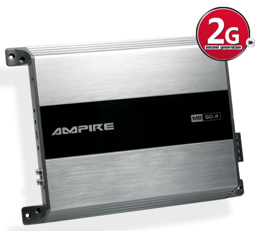 AMPIRE MB60.4-2G 4-Kanal Endstufe, 4x 60 Watt (2.Generation)