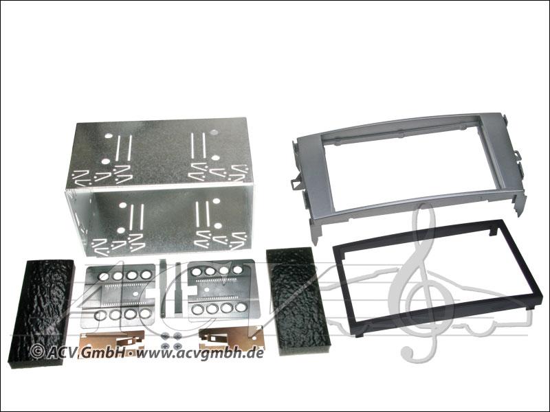Double-DIN installation kit Toyota Auris anthracite gray